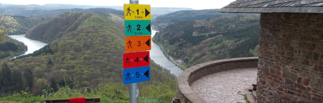 NORDIC WALKING an der Saarschleife
